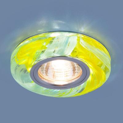 Фото - Встраиваемый светильник Elektrostandard 2191 MR16 YL/BL желтый/голубой 4690389099243 cветильник галогенный de fran встраиваемый 1х50вт mr16 ip20 зел античное золото