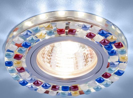 Фото - Встраиваемый светильник Elektrostandard 2195 MR16 SL/MLT зеркальный/мульти 4690389099427 cветильник галогенный de fran встраиваемый 1х50вт mr16 ip20 зел античное золото