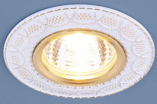 Встраиваемый светильник Elektrostandard 7010 MR16 WH/GD белый/золото 4690389099250 встраиваемый светильник elektrostandard 7010 mr16 wh gd белый золото 4690389099250