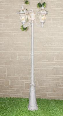 Садово-парковый светильник Elektrostandard Capella F/3 белое золото 4690389082412 цена