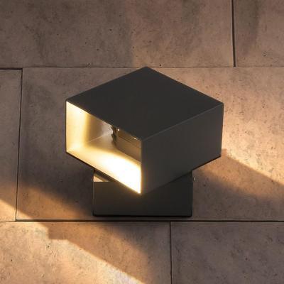 Уличный настенный светодиодный светильник Elektrostandard 1607 Techno LED Fobos графит 4690389086069 elektrostandard лампа светодиодная elektrostandard свеча на ветру сdw led d 6w 3300k e14 4690389085505