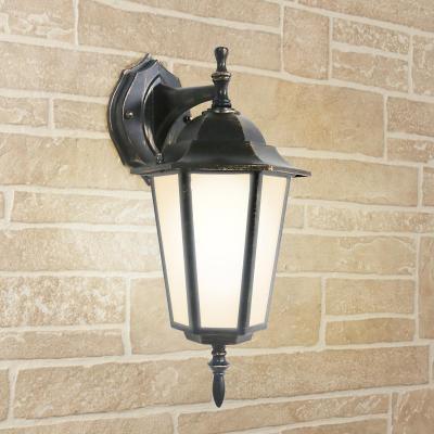 Уличный настеный светильник Elektrostandard 1004D черное золото 4690389085680