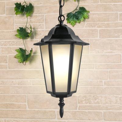 Уличный подвесной светильник Elektrostandard 1004H черный 4690389085710
