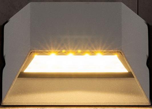 Уличный настенный светодиодный светильник Elektrostandard 1614 Techno LED Ofion серый 4690389086090 elektrostandard лампа светодиодная elektrostandard свеча на ветру сdw led d 6w 3300k e14 4690389085505