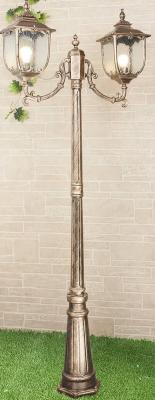Садово-парковый светильник Elektrostandard Sculptor F/2 черное золото 4690389064661 от 123.ru