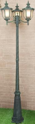 Садово-парковый светильник Elektrostandard Taurus F/3 малахит 4690389065057 elektrostandard светильник на столбе elektrostandard taurus f 3 малахит арт glxt 1458f 3 4690389065057