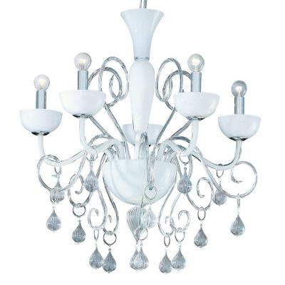 Подвесная люстра Ideal Lux Lilly SP5 Bianco подвесная люстра ideal lux ekos sp5 bianco