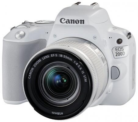 Зеркальная фотокамера Canon EOS 200D EF-S 18-55mm 24Mp белый 2253C001 canon eos 50d kit ef s 18 200