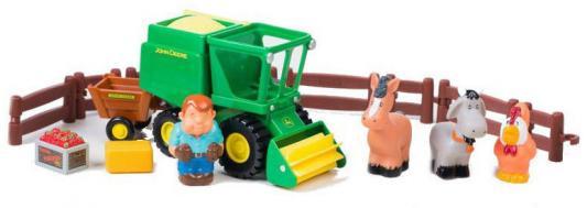 Комбайн Tomy «Моя первая ферма» Уборка урожая ТО43069 разноцветный игровые наборы tomy игровой набор приключения трактора джонни и коровы на ферме