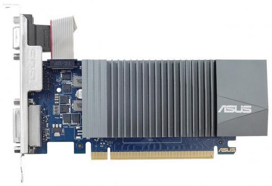 Видеокарта 2048Mb ASUS GeForce GT710 PCI-E 64bit GDDR5 DVI HDMI CRT HDCP GT710-SL-2GD5 Retail