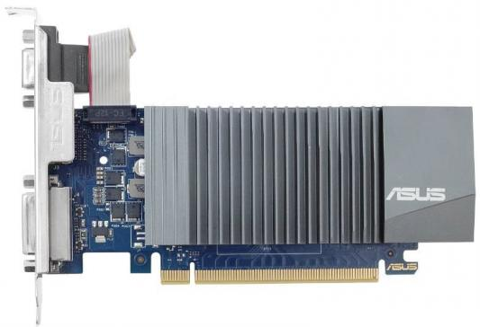 Видеокарта 1024Mb ASUS GeForce GT710 PCI-E 64bit GDDR5 DVI HDMI CRT HDCP GT710-SL-1GD5-BRK Retail видеокарта 2048mb asus geforce gt710 pci e 64bit gddr3 dvi hdmi crt vga 710 2 sl retail