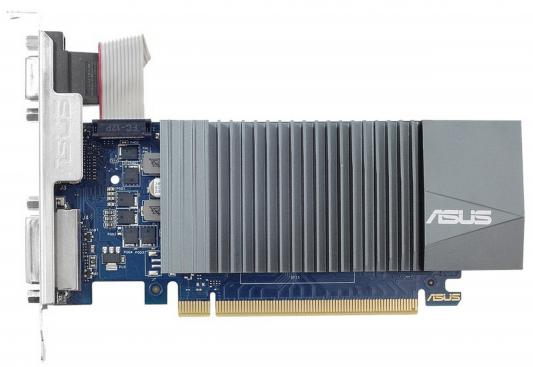 Видеокарта 1024Mb ASUS GeForce GT710 PCI-E 64bit GDDR5 DVI HDMI CRT HDCP GT710-SL-1GD5 Retail видеокарта asus geforce® gt 710 gt710 sl 1gd5 brk 1гб gddr5 retail