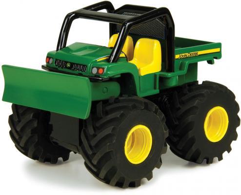 Будьдозер Tomy Monster Treads 37650-3 разноцветный машинки tomy трактор john deere monster treads с большими резиновыми колесами tomy