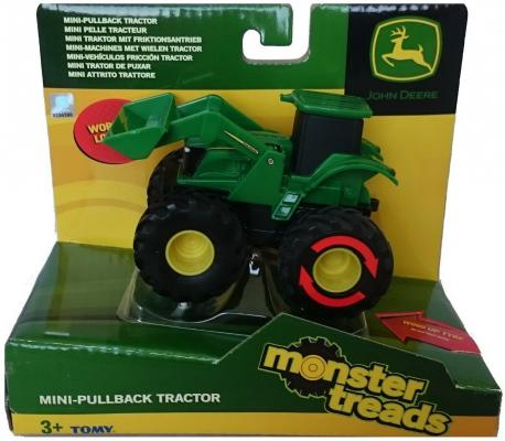 Трактор Tomy Monster Treads зеленый 10 см машинки tomy трактор реверсивный monster treads