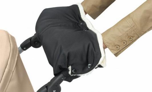 Муфта для коляски из из стриженой овчины Bozz (черный\\натуральный/20-2017) конверт из стриженой овчины bozz черный серый 60 154 3