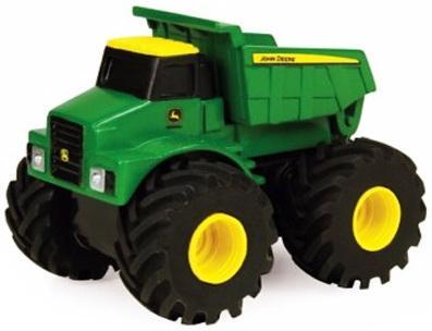Самосвал Tomy Monster Treads разноцветный 7.5 см машины tomy трактор john deere monster treads с большими резиновыми колесами