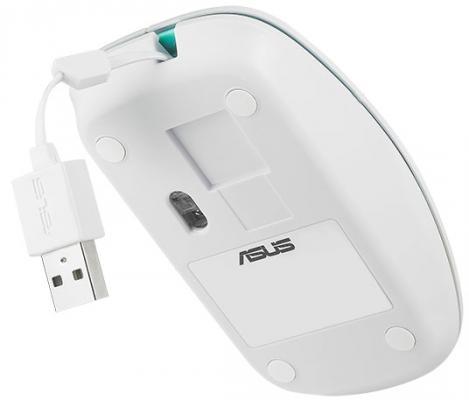 Мышь проводная ASUS UT300 белый USB