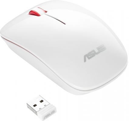 Мышь беспроводная ASUS WT300 RF белый USB + радиоканал 90XB0450-BMU020 мышь беспроводная asus wt425 синий usb радиоканал 90xb0280 bmu040