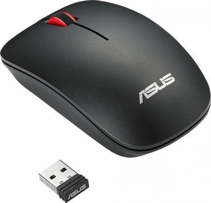 Мышь беспроводная ASUS WT300 RF чёрный USB + радиоканал мышь беспроводная asus wt425 синий usb радиоканал 90xb0280 bmu040