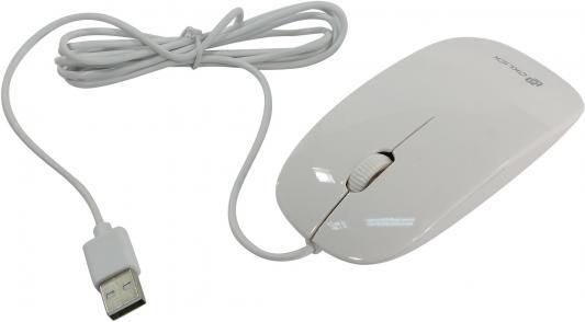 Мышь проводная Oklick 265M белый USB HM-36