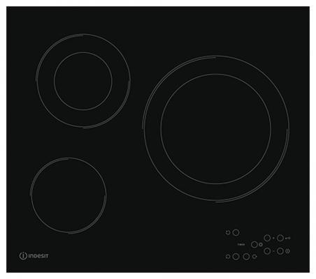 Варочная панель электрическая Indesit RI 360 C черный встраиваемая электрическая панель indesit vra 641 dbs