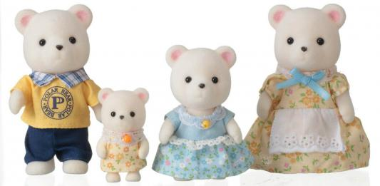 Игровой набор SYLVANIAN FAMILIES Семья белых медведей 4 предмета sylvanian families набор фигурок семья белых мышей