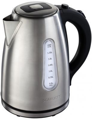 Чайник Scarlett SC-EK21S43 2200 Вт серебристый 2 л нержавеющая сталь чайник ariston wk 22m dsl0 2200 вт серебристый чёрный 1 7 л нержавеющая сталь