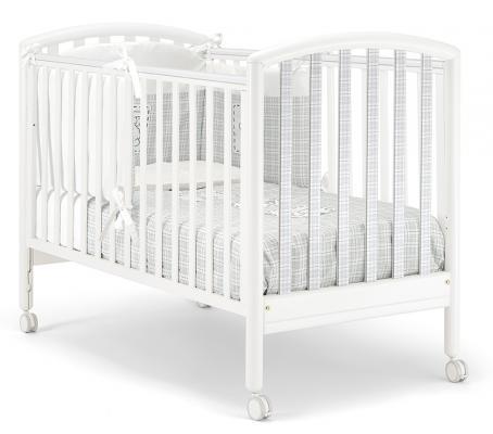 Кроватка Pali Max ( белый/серый в клеточку)