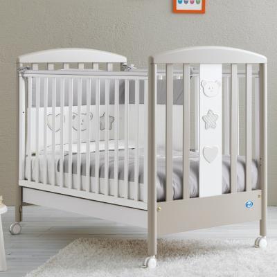 Купить Кроватка Pali Merlino (белый/серо-песочный), массив бука / ДСП / МДФ, Кроватки без укачивания