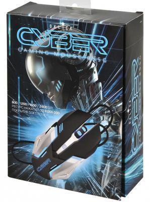 Мышь проводная Oklick 855G Cyber чёрный серебристый USB мышь oklick 765g symbiont gm w 610