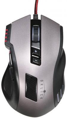 Мышь проводная Oklick 805G V2 Beowulf чёрный USB мышь oklick 115s black red usb