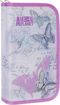 Пенал на два отделения Action! Animal Planet AP-APC4227/2 пенал на трех молниях action animal planet ap pc03 03
