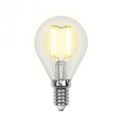 Лампа светодиодная (UL-00001371) E14 6W 4000K шар прозрачный LED-G45-6W/NW/E14/CL PLS02WH лампа светодиодная uniel led c35 6w ww e14 fr pls02wh 10шт