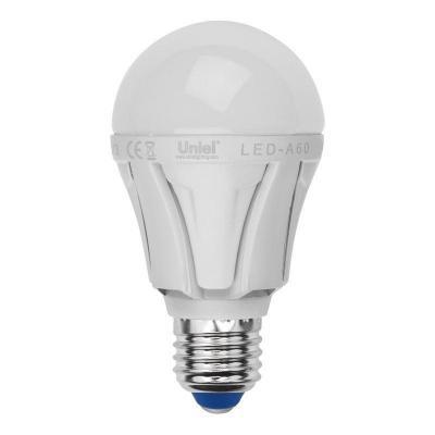 Лампа светодиодная груша Uniel LED-A60 8W/DW/E27/FR PLP01WH E27 8W 6500K лампа светодиодная uniel led a60 11w ww e27 fr dim plp01wh