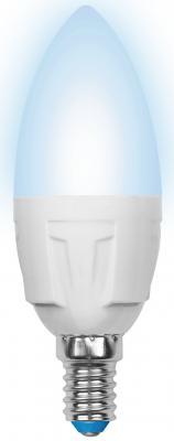 Лампа светодиодная (UL-00002411) E14 7W 4000K свеча матовая LED-C37 7W/NW/E14/FR PLP01WH uniel лампа светодиодная 07889 e14 6w 4500k свеча матовая led c37 6w nw e14 fr alp01wh