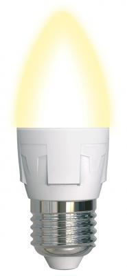 Лампа светодиодная (UL-00002414) E27 7W 3000K свеча матовая LED-C37 7W/WW/E27/FR PLP01WH