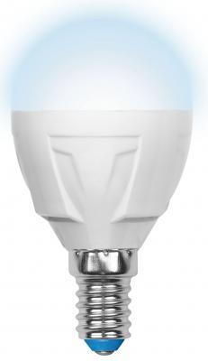 Лампа светодиодная (UL-00002417) E14 7W 4000K шар матовый LED-G45 7W/NW/E14/FR PLP01WH лампочка ecola globe led e14 7w g45 220v 4000k k4lv70elc