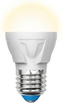 Лампа светодиодная (UL-00002420) E27 7W 3000K шар матовый LED-G45 7W/WW/E27/FR PLP01WH uniel лампа светодиодная uniel диммируемая led a60 11w ww e27 fr dim plp01wh ul 00000687