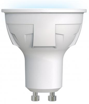 Лампа светодиодная полусфера Uniel LED-JCDR 6W/NW/GU10/FR PLP01WH GU10 7W 4000K UL-00002421 лампа светодиодная диммируемая gu10 8w 4000k полусфера прозрачная lh mr16 d 8 gu10 840 l243