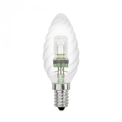 Лампа галогенная свеча витая Uniel 04112 E14 28W HCL-28/CL/E14 Candle Twisted