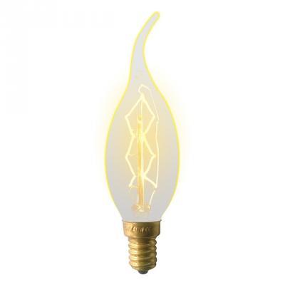 Лампа накаливания (UL-00000483) E14 60W свеча на ветру золотистая IL-V-CW35-60/GOLDEN/E14 ZW01 uniel лампа галогенная 01091 e14 42w свеча на ветру радужная hcl 42 rb e14 flame