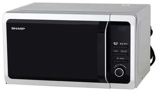 СВЧ Sharp R6852RSL 800 Вт серебристый чёрный цена и фото