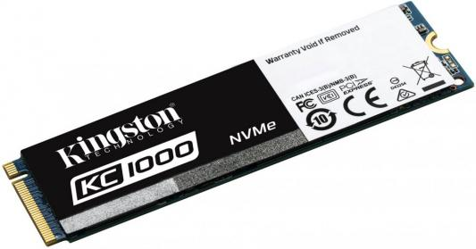 Твердотельный накопитель SSD M.2 480 Gb Kingston KC1000 Read 2700Mb/s Write 1600Mb/s PCI-E SKC1000/480G твердотельный накопитель ssd m 2 480gb pny cs2030 read 2800mb s write 1550mb s pci e m280cs2030 480 rb