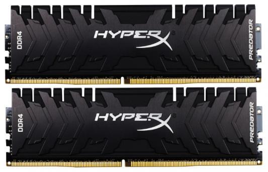 Оперативная память 16Gb (2x8Gb) PC4-19200 2400MHz DDR4 DIMM CL12 Kingston HX424C12PB3K2/16 оперативная память kingston kvr24r17s4 16