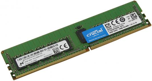 Оперативная память 16Gb (1x16Gb) PC4-21300 2666MHz DDR4 DIMM ECC Registered CL19 Crucial CT16G4RFS4266