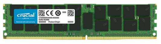 Оперативная память 16Gb (1x16Gb) PC4-21300 2666MHz DDR4 DIMM ECC Registered CL19 Crucial CT16G4RFD4266