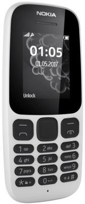 """Мобильный телефон NOKIA 105 TA-1010 белый 1.4"""" 8 Мб"""