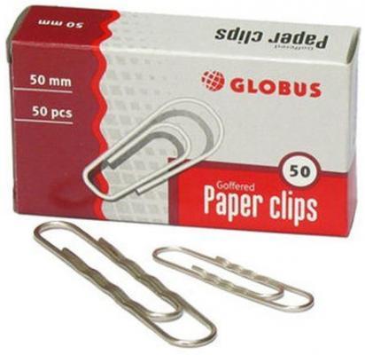 Скрепки Глобус Г50-50Н 50 шт 50 мм серебристый