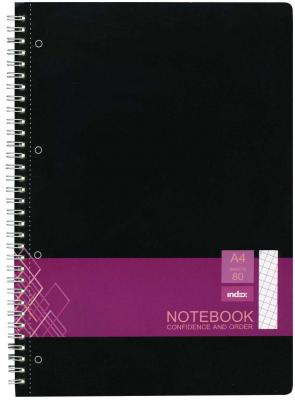 Тетрадь офисная Index IN0101-A480 80 листов клетка гребень блокнот index in0101 a540 a5 40 листов в ассортименте