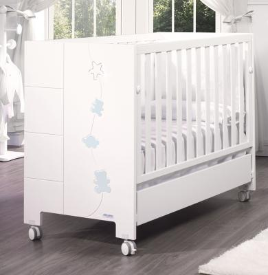 Кровать Micuna Juliette Relax Luxe (Микуна Джулиет релакс Люкс) с кристаллами Swarovski 120*60 white/blue